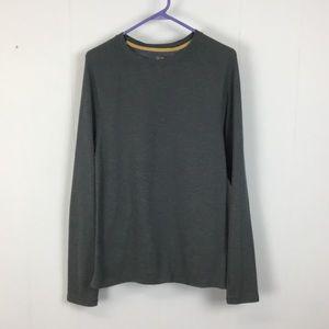 Club Room mens grey thermal long sleeve shirt